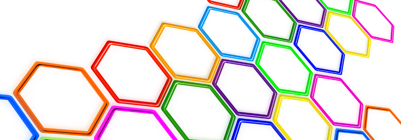 hexagon shapes of different colors