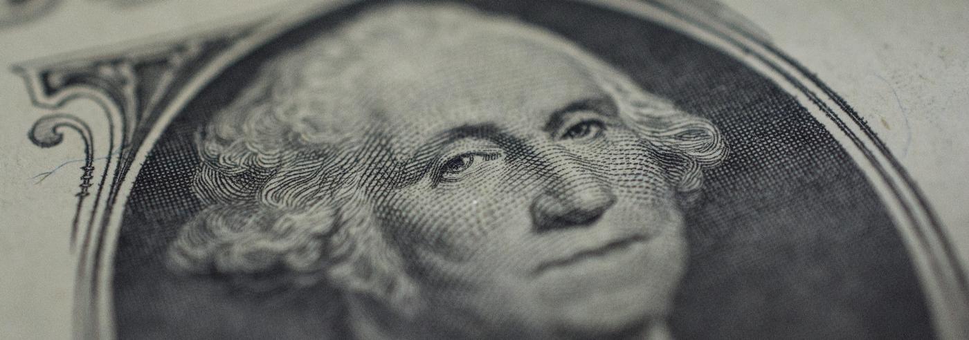 George Washingtion's image on the dollar bill.